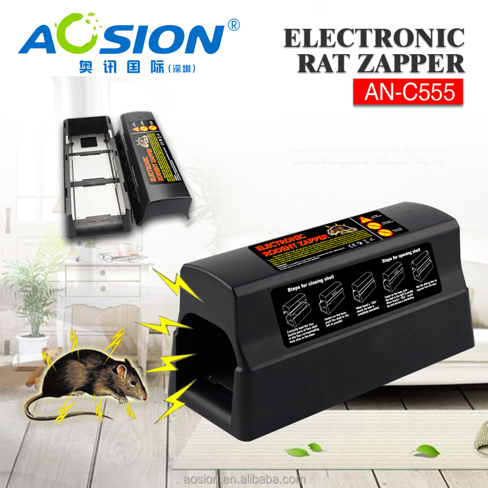 Aosion Cheap black plastic rat mouse trap cageing AN-C555