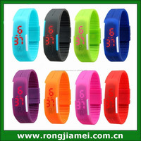 new version waterproof LED touch screen watches,silicone sports wrist watch