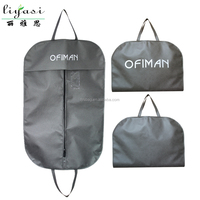 custom logo Famous Brand Cloth Nonwoven Foldable Garment Bag