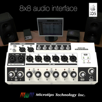 Mixer Hub 8x8 USB audio interface with analog mixing for PC, MAC and iOS