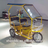 2015 500W MINI model for the elder battery electric tricycle safely 3 wheel electric pedicab for sale