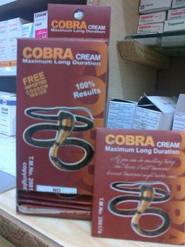 cobra delay cream for man