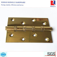 Professional Polished Brass Ball Bearing Door Hinge