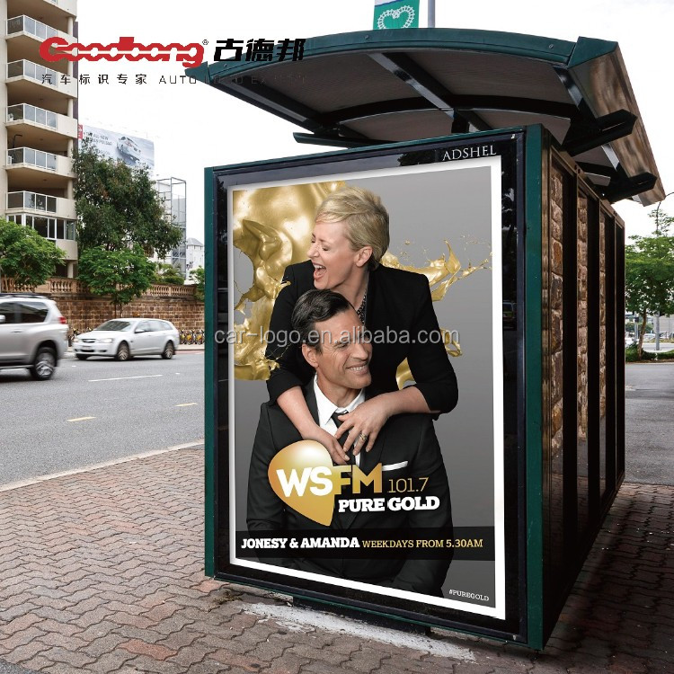 Solar power bus stop shelter with outdoor led energy advertising light box