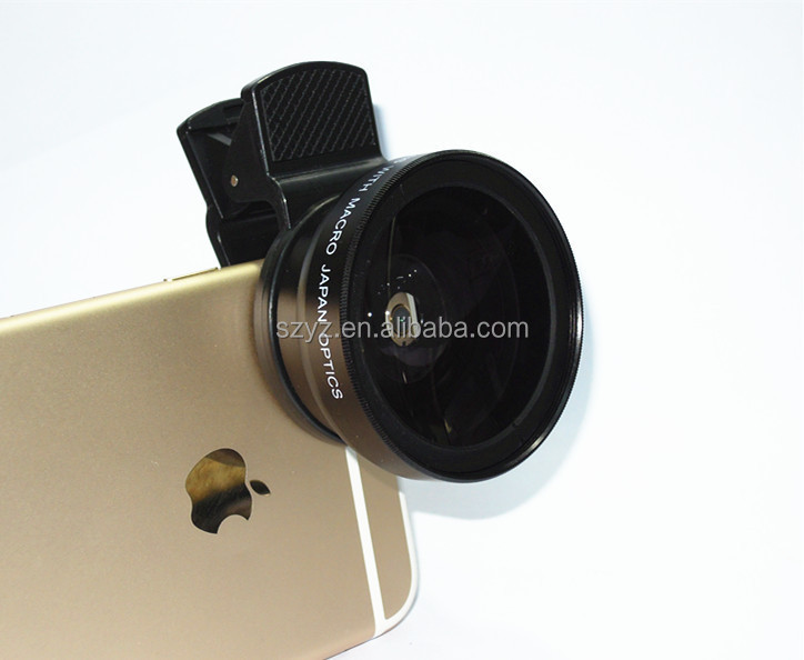 37mm 2 in 1 Cellphone Camera Lens Kit 0.45X Wide Angle and 15X Macro Lens Upgrade Version for iPhone, Samsung, Android