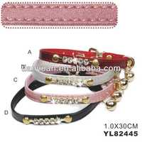 PU fashing cat collars with diamond (YL82445)