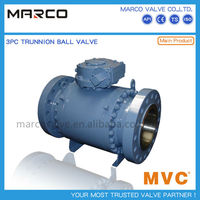 Professional supply carbon steel and stainless steel fixed mounted trunnion fb full bore ball valve