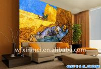 decoration printed canvas with eco-solvent wallpaper