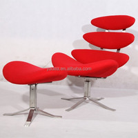 corona lounge chair/corona chair with ottoman by poul volther