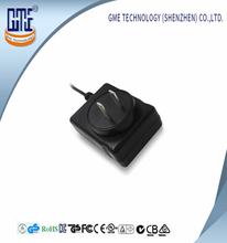 Shenzhen 2 Years Warranty GME 3C Approval Plug in Chinese Style AC DC Power Adaptor