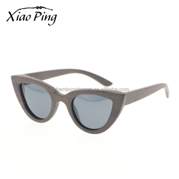 Custom Logo CE UV400 Solid Wood Sunglasses Cat Style Sun Glasses