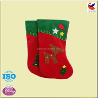 Hot selling light up christmas socks ,xmas decorative stocking