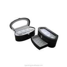 Multi-layer Counter Display Case Watch & Earring &Ring Box With Glass