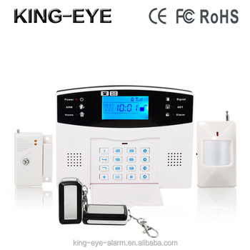 LCD screen two-way intercom 433mhz wireless magnetic door alarm set with SIM card