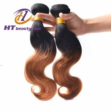 Cheap brazilian Hair body Wave Wet And Wavy 4Pcs Lot Two Tone Human Hair Weave #1B 30 brazilain Ombre Loose Wave