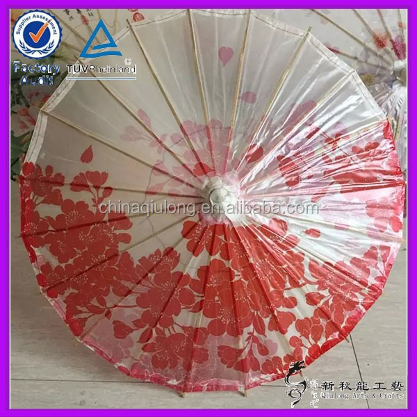Handmade Bamboo Crafts Chinese Flowers Umbrellas for Wedding