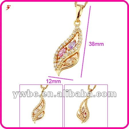 custom cz jewelry necklaces superstar accessories (A119505)
