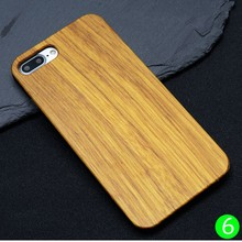 China Supplier Blank Wood Housing for iPhone 7 Plus,Handphone Accessories Black Frame Wood Case for iPhone 7 Plus