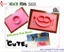 2015 Target audited supplier Collapsible Compact Pet Bowl Dog Cat Travel Dish Silicone sucker pet bowl