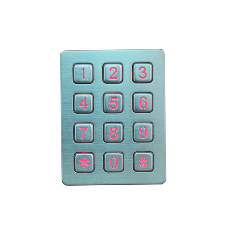 OEM Waterproof usb interface numeric Metal Keypad