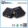 Factory Digital Optical Coaxial audio to Analog RCA+3.5mm earphone Audio Converter