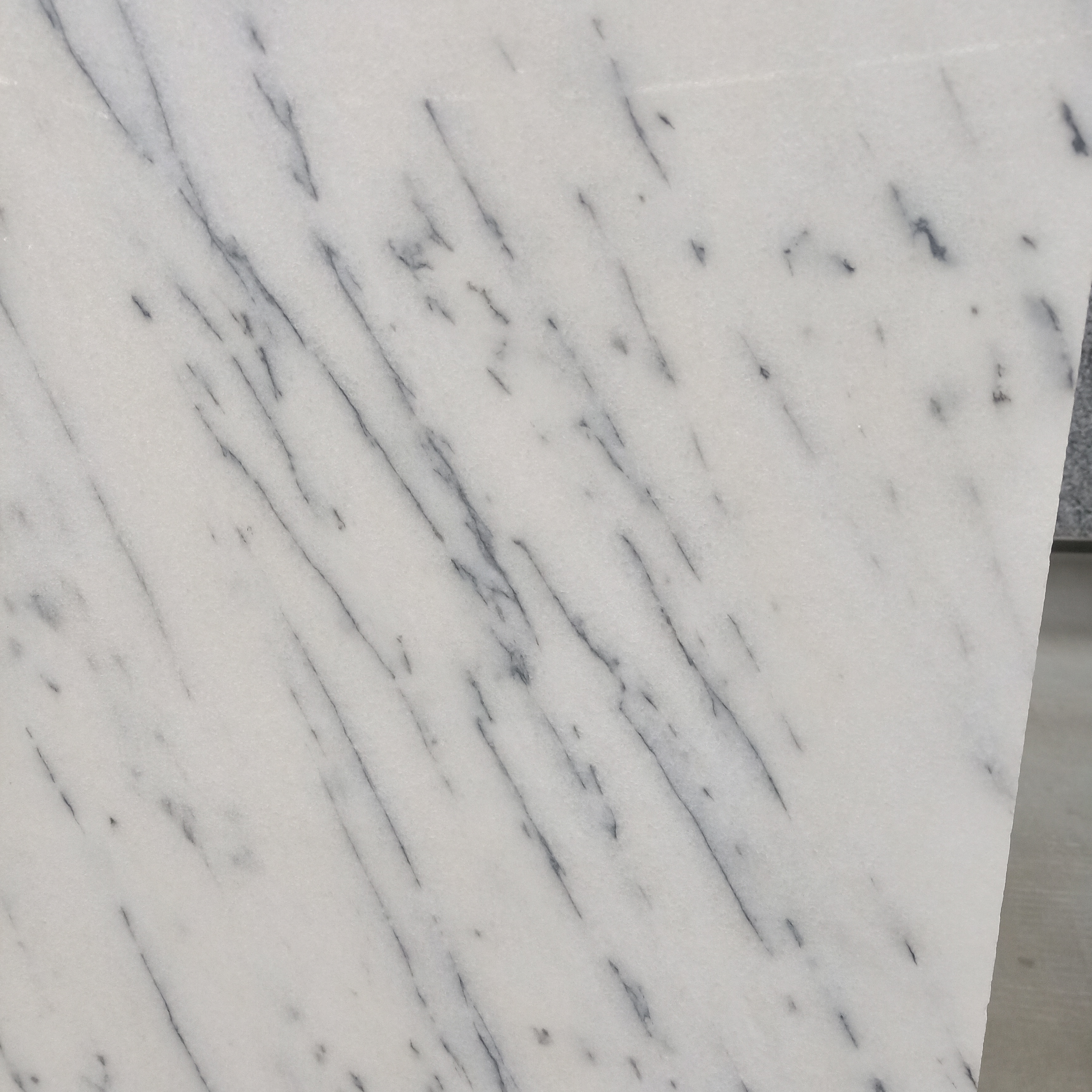 snow white marble tile with veins