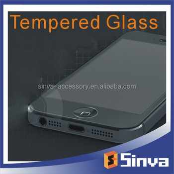 2015 New arrival Electroplating Mirror tempered glass screen protector for iPhone 6