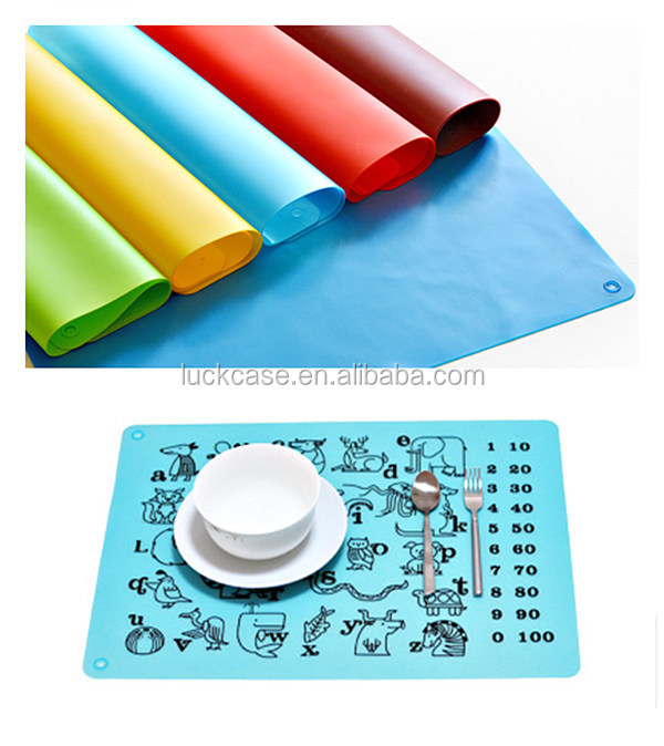 Best Children Dinner Mat Silicone Table Mat cute child feeding mat FDA silicone kid's placemat
