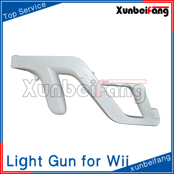 Light Zapper Gun for Wii Remote Nunchuk Controller White