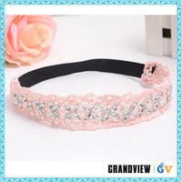 Wholesale custom girls baby headband with rhinestones