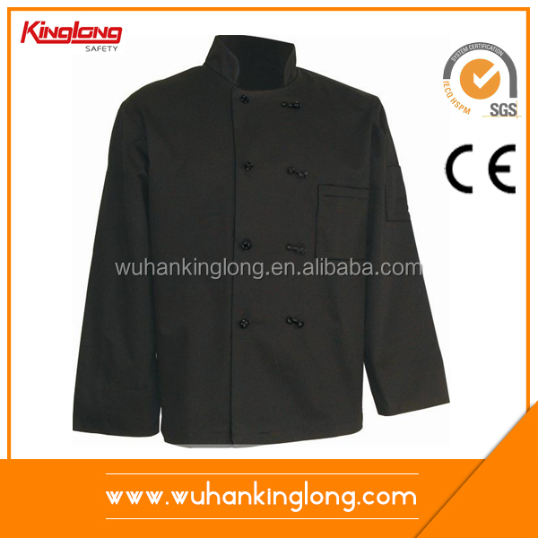 high quality cotton Stand collar Double-breasted chef jacket
