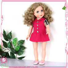 "European short hair 18 inch cloth body doll 18"" vinyl doll for kids"