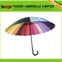 rainbow loom bands 16 ribs umbrella, pagoda umbrella