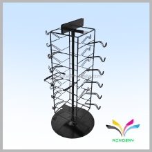 customized supermarket metal wire battery powered rotating display stand