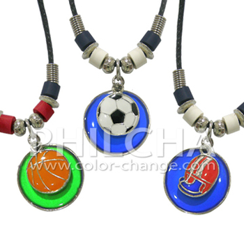Sports style mood pendant necklace color changing necklace for Fashion jewelry that won t change color