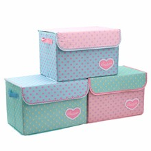 New style non-woven printed storage box foldable