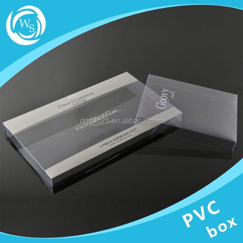 folding hot stamping clear packaging pillow shaped plastic pvc box