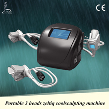 Portable cryolipolysis cool body sculpting machine for home use