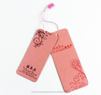 Personalized pink cardboard paper swing tags for clothing