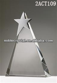 Victory Star Triangle crystal awards