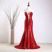 real sample 2014 luxury crystal red Evening Dress