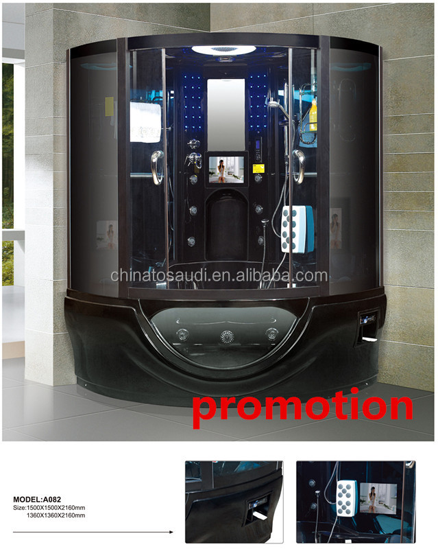 Modern HOT sell bathrooms designs shower cabin steam bath price with foot massage