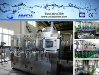 3 in 1 soft making filling line plant/carbonated soft drink filling machine