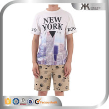 Wholesale man polyester sublimation tshirt with print