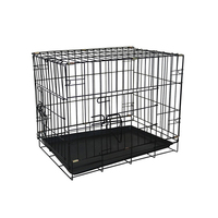 Small dog travel crates heavy duty general cage slant front collapsable folding plastic metal galvanized dog crate wholesale