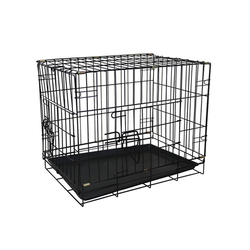 Small size dog travel crates folding plastic floor metal dog crate sale