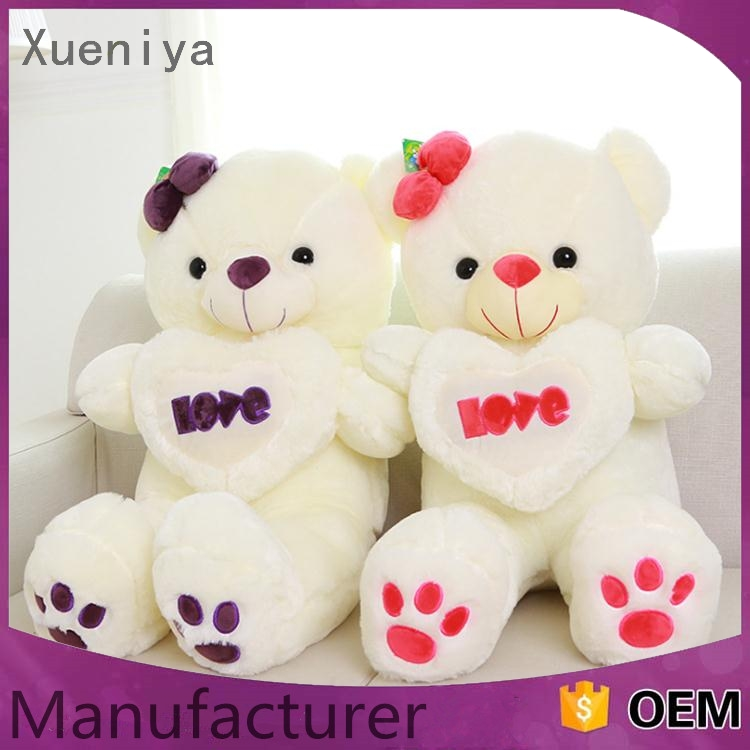 china manufacturer promotional comfortable wholesale sleeping bear plush toy