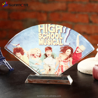Sunmeta directly sublimation decoration photo crystal, crystal fan-shaped for wedding gifts BSJ-17