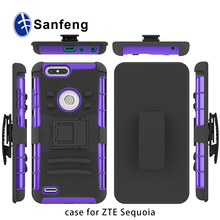 For ZTE z982/Sequoia/Blade Zmax Pro 2 kickstand case with belt clip full protective cover