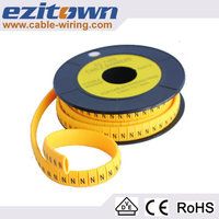 plastic circle marker tube ec-2 cable marker